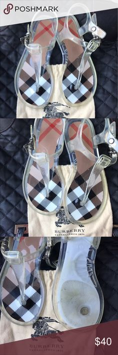 Burberry sandals for little girl Burberry jelly Sandals for little girls, One of the bucles have been fixed, that's what I giving them for this price, my daughter used them a few times only, they are in good condition, authentic from Nordstrom Burberry Shoes Sandals & Flip Flops