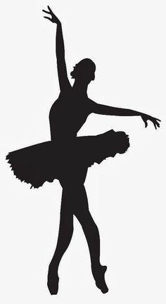 Siluetas de Ballerinas y Bailarinas.                                                                                                                                                     Más