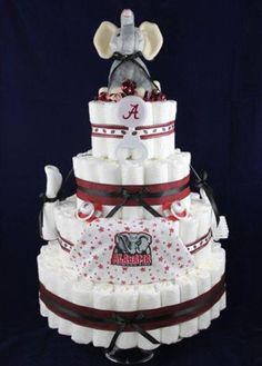 Alabama Football Baby Shower Cake Made By Lindsey Davis