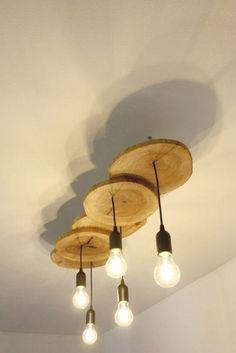 Industrial Ceiling Lights, Rustic Lighting, Ceiling Light Fixtures, Industrial Lamps, Ceiling Lamps, Ceiling Lighting, Modern Industrial, Floor Lamps, Wooden Ceilings