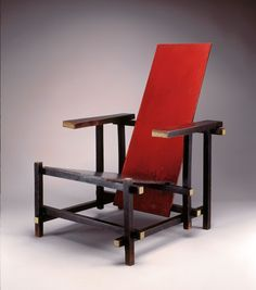 The Red/Blue Chair is perhaps the most influential and recognizable  furniture design of the twentieth century because it redefined traditional  notions of f...