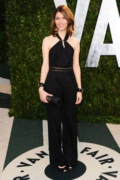 Sofia Coppola arrives at the 2012 Vanity Fair Oscar Party on February 26, 2012.
