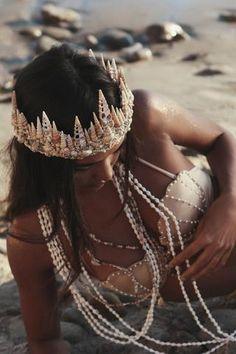 Casting Spells Mermaid Crown in Gold