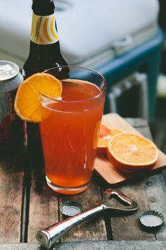 Blood Orange Shandy (Beer cocktail)