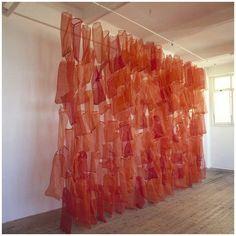 Lauren Berkowitz Onion Sac Wall, 1996 plastic onion bags 4H x 6Wm