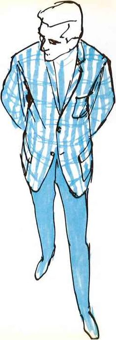 René Gruau, Blazer jackets, Sir, 1963