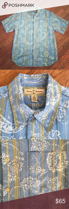 """NWOT Tommy Bahama Shirt Never worn!!  Measures 23"""" armpit to armpit and 31"""" shoulder to hem. This shirt is brand new without tags so NO lowball offers. It was $150 new! Tommy Bahama Shirts Casual Button Down Shirts"""