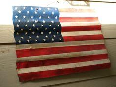 corrugated tin flag