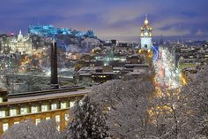 Рождественские огни в Эдинбурге, Шотландия