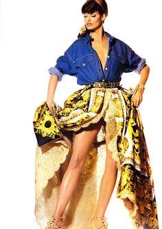 Gianni Versace 1992 by Irving Penn -  Linda Evangelista
