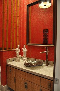bamboo bathroom cabinets design, pictures, remodel, decor and