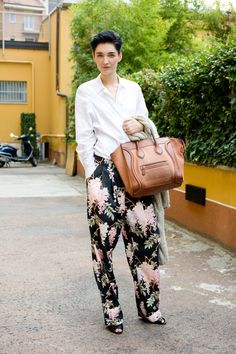 after seasons of printed skinny jeans, a baggy silhouette feels completely current