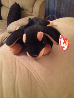 Doby the Dog - Ty Beanie Baby - Doberman Pinscher New Condition- Fast Shipping #Ty