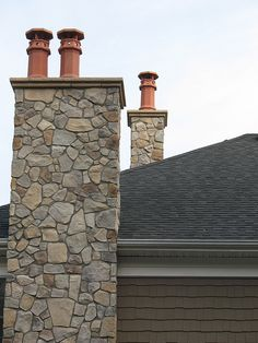 Chimney Cap On Stone Chimney Inspiration For New House