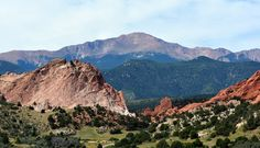 View of Pikes Peak and the The Garden of the Gods