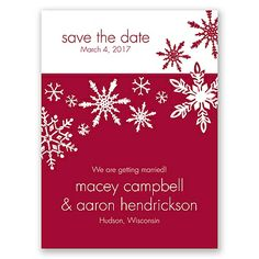 Snowflake Melody - Save the Date