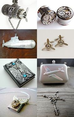 I've Got A Silver Machine.......... - Etsy treasury created by Ffigys Designs
