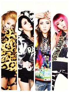2NE1 ~ CL, Park Bom, Dara, and Minzy (starting from left to right)