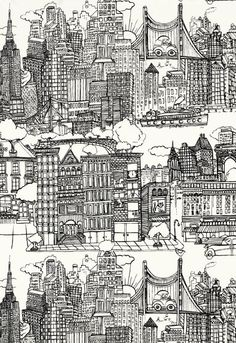 New York, New York... One of my all-time favorite fabrics honoring my all-time favorite city.