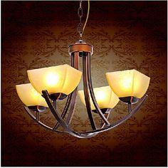 AC110V-220V  Vintage LED Chandelier with 4 Lights Lamp Home Lighting Chandeliers For Dinnig Living Room  Free Shipping #Affiliate