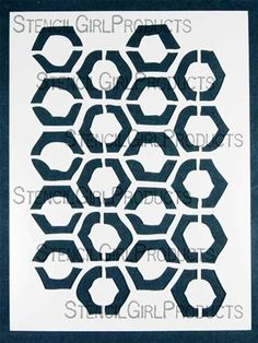Honeycomb stencil from Stencil Girls -- wish list