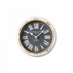 Reloj pared negro Factory #LolaDerek #reloj #relojdepared #deco #estilo #home #watch #time #shoponline #tiendaonline http://goo.gl/hgdurH