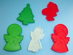5 Hallmark Holiday Cookie Cutters Angels by AnEclecticEccentrica