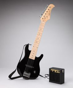 Take a look at this Black 30'' Electric Guitar Set by New Dimensions on #zulily today!