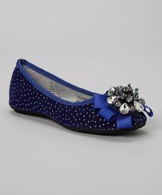 Loving this Marilyn Moda Blue Shimeri Flat on #zulily! #zulilyfinds