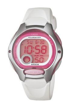 Casio Women's LW200-7AV Digital White Resin Strap Watch: Watches: Amazon.com