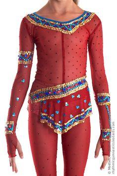 Rhythmic Gymnastics Competition Leotard Ice Figure by Modlen