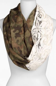 BP. Camo & Lace Circle Scarf available at #Nordstrom