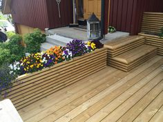 Bilderesultat for blomsterkasse Garden Seating, Terrace Garden, Patio Edging, Outdoor Living, Outdoor Decor, Modern Kitchen Design, Garden Furniture, Garden Design, Backyard