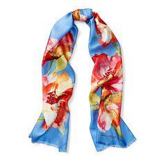 Oana Floral Silk Scarf - Lauren All Accessories  - RalphLauren.com