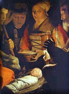 Georges de La Tour (French Baroque Era Painter, 1593-1652) Adoration of the Magi detail