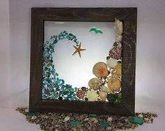 Sea of life, Seashells, Starfish, Aqua Green Wave