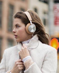 Carey Murphy, headphones, winter coat