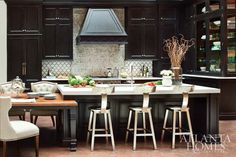greige: interior design ideas and inspiration for the transitional home by christina fluegge: Dark in the kitchen