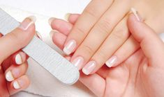 Manicures have been lately related to the risk of cancer. Well, the traditional manicures do not pose this risk. But, gel manicures become quite popular. Manicure Y Pedicure Spa, Manicure At Home, Mani Pedi, Nail Care Tips, Nail Tips, Manicure Tips, French Nails, Gorgeous Nails, Pretty Nails