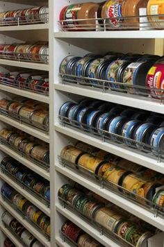 Another food storage idea...Looks like more Ikea billy bookcases!