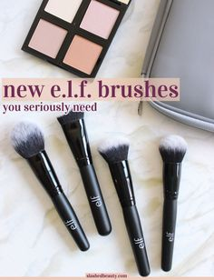 e.l.f. just released a ton of new affordable makeup brushes. Click through to see which ones you need ASAP!
