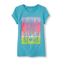 Girls Short Sleeves 'Girls Are Superstars' Graphic Tee