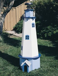 Solar Powered Lighthouse Plans Add some nautical flair to your home while providing some helpful lighting too...courtesy of the sun!