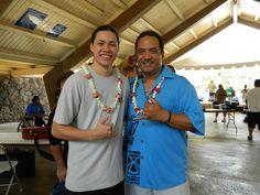 Peter Moon Jr. in the backstage area at the 2012 Gabby Pahinui Waimanalo Kanikapila!
