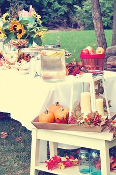 Fall baby shower, a double win