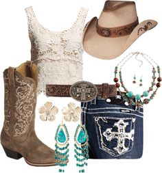 Cowgirl boots, Miss me Jeans, Lace, and Turquoise---- Everything I love!!!