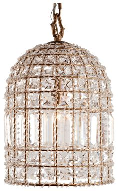 Home Accents Glass Crystal Chandelier, Transparent