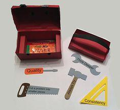 Teachers Gifts-  Tool box gift card holder.