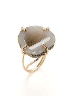 Birthday gift for myself?  Alanna Bess Jewelry White & Light Grey Tabasco Geode Ring