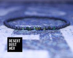 Men's tsavorite bracelet, Tsavorite, Men's bracelet, Green bracelet, Black bracelet, Frosted black seed bead, Seed bead men by DESERTDUSTMEN on Etsy